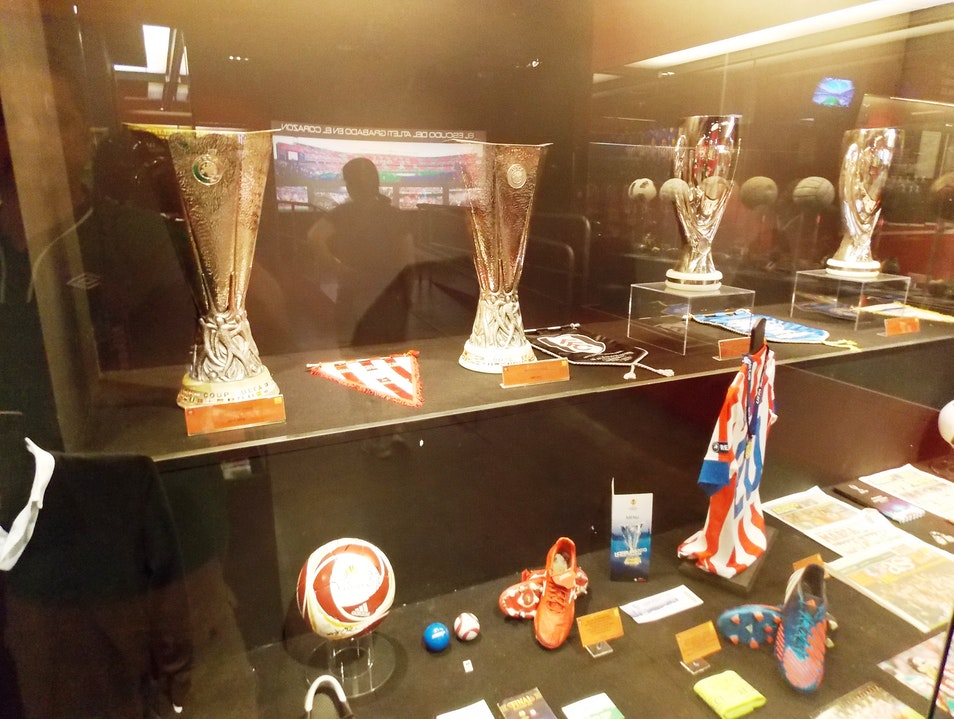 Some of Atletico's silverware Madrid  Spain