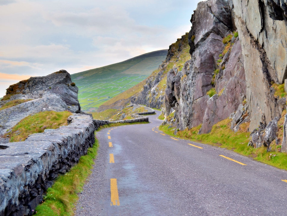Winding Road in Slea Head Kerry  Ireland