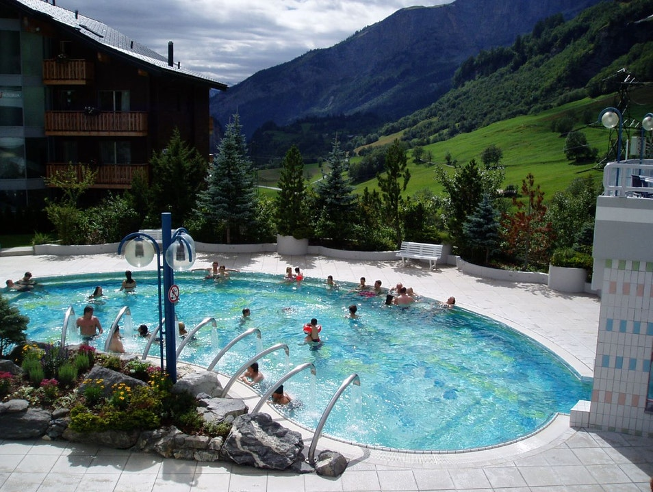 Spa-ing for the whole family Leukerbad  Switzerland