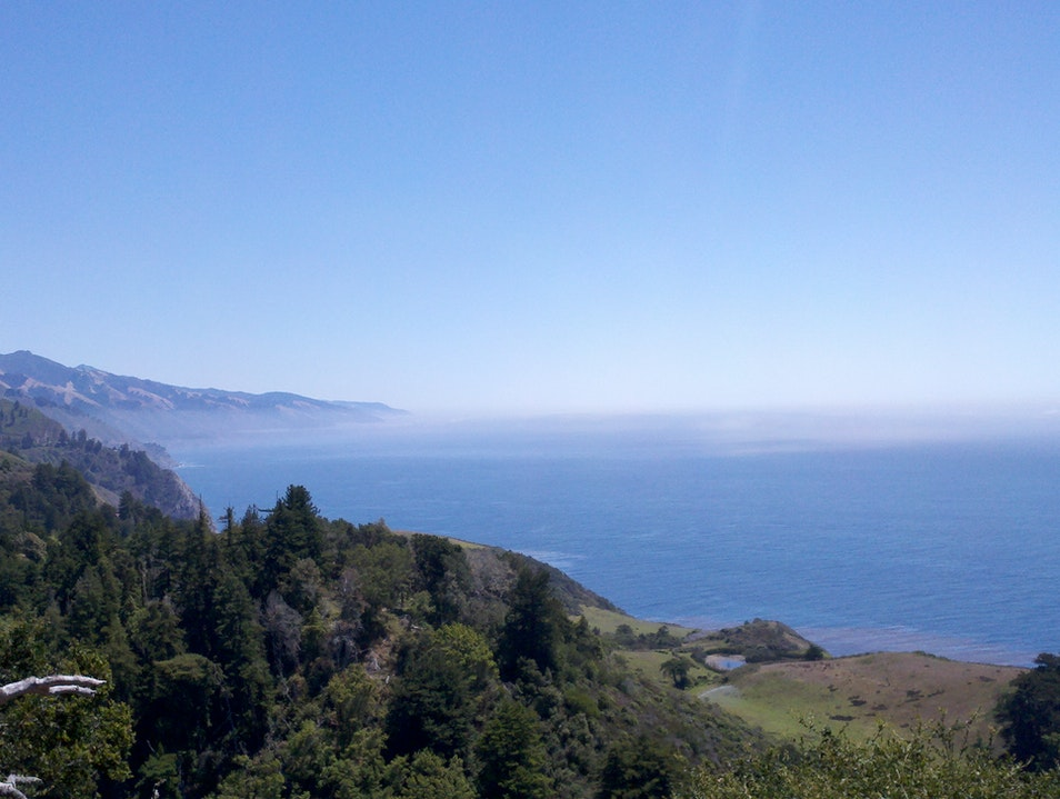 Drinks at Nepenthe Restaurant in Big Sur