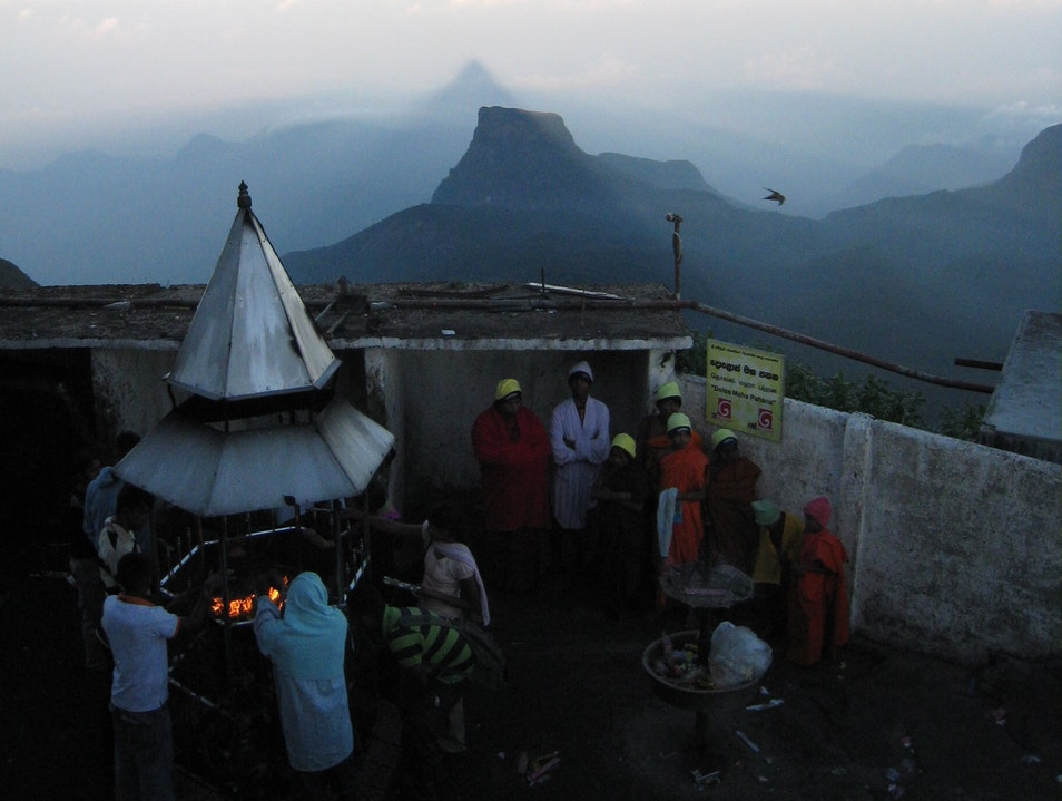 On Top Of The World: Sunrise On Sri Pada (Adam's Peak) Peak Wilderness Sanctuary  Sri Lanka