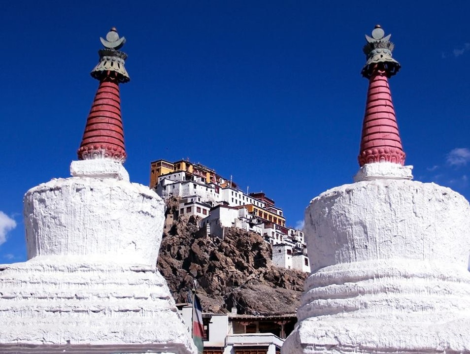 Visiting Buddhist Monks in the Indian Himalayas Leh  India