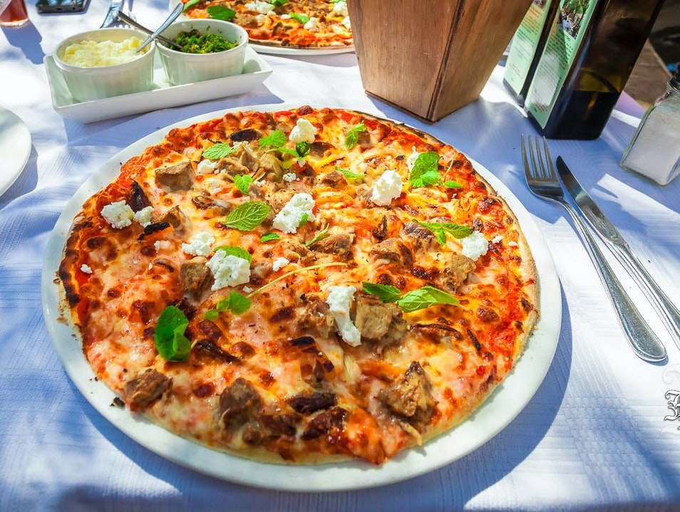 Have a Leg of Lamb Pizza in the Garden Johannesburg  South Africa