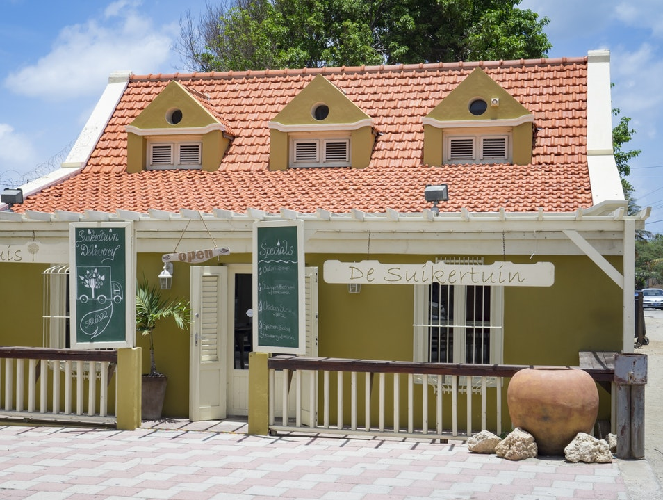 Dutch Food Served in an Old Townhouse Oranjestad  Aruba
