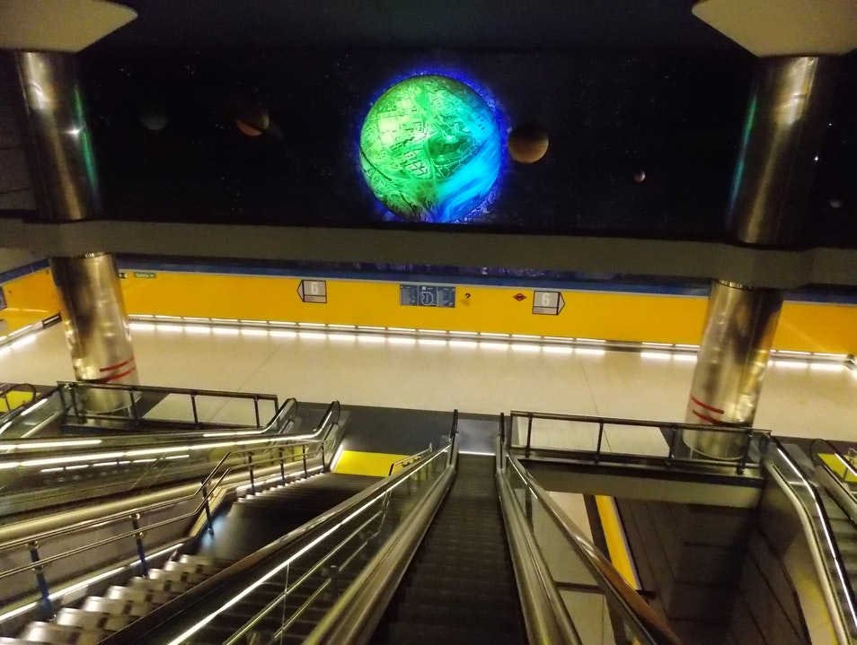 Out of this world metro station Madrid  Spain