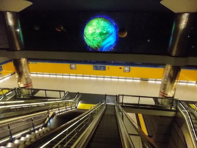 Out of this world metro station