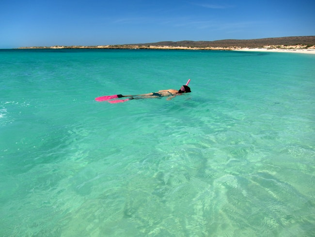 Snorkeling in Turquoise Bay