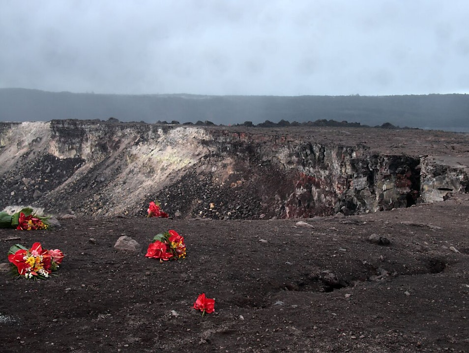 An Offering of Flowers to a Volcano Pāhoa Hawaii United States