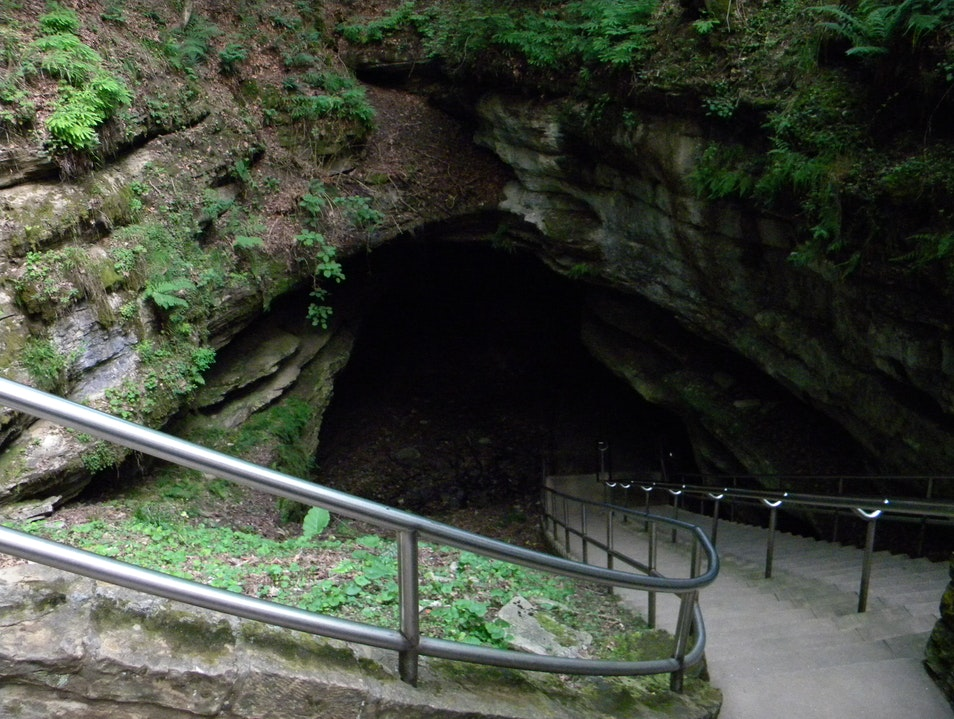 Historic entrance to the cave Mammoth Cave Kentucky United States