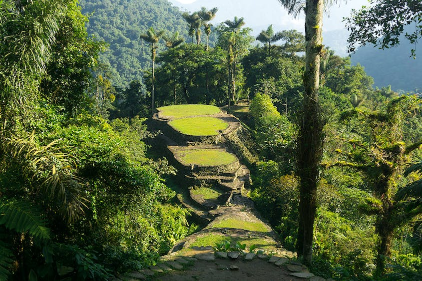 Ciudad Perdida, a forest city in Colombia, takes five days to reach.