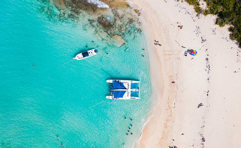 Snorkel right by the beach or take a boat to a memorable dive site in Puerto Rico.