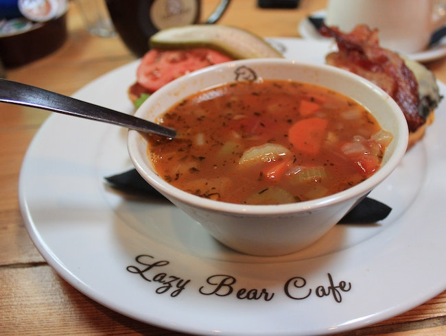 A Hearty Meal at the Lazy Bear Cafe