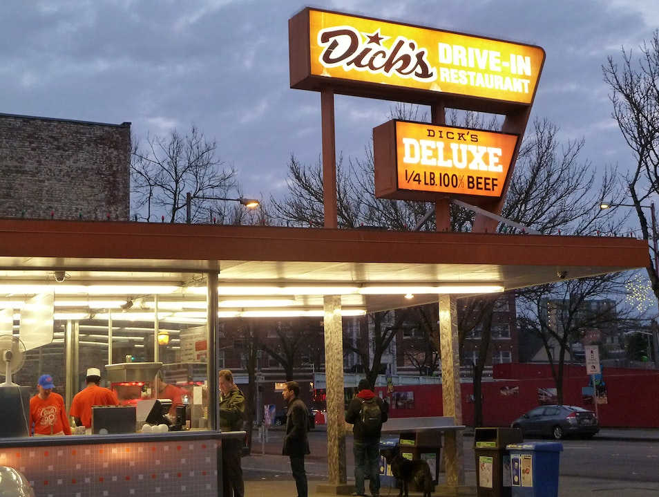 Dick's Burgers Is a Walk-Up, Not a Drive-Thru Seattle Washington United States