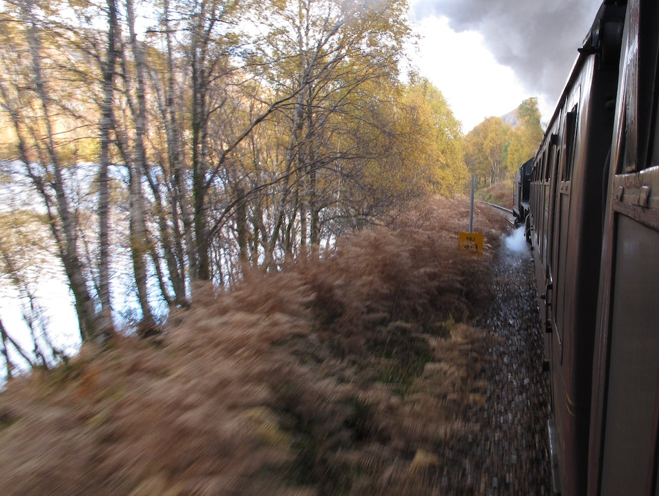Riding the Jacobite Steam Train Fort William  United Kingdom