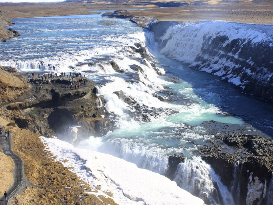 Gullfoss Waterfall South  Iceland