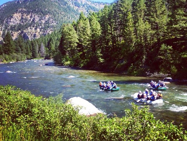 Rafting on the Gallatin River in Big Sky, Montana