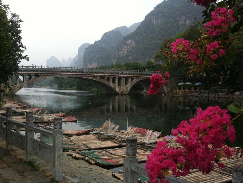 Bamboo Rafting near Guilin, China Guilin  China