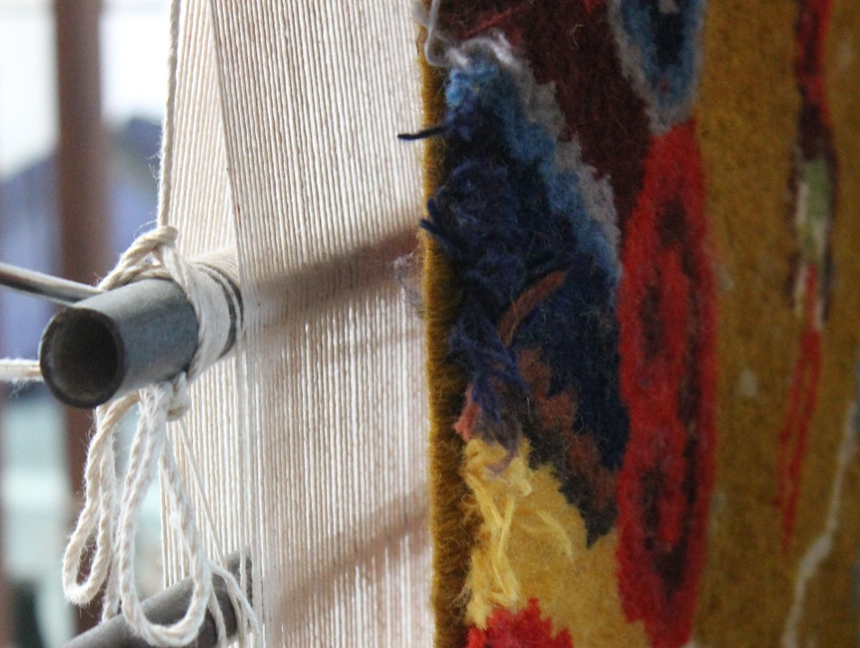 Fair-trade Tibetan carpets in the foothills of the Himalayas