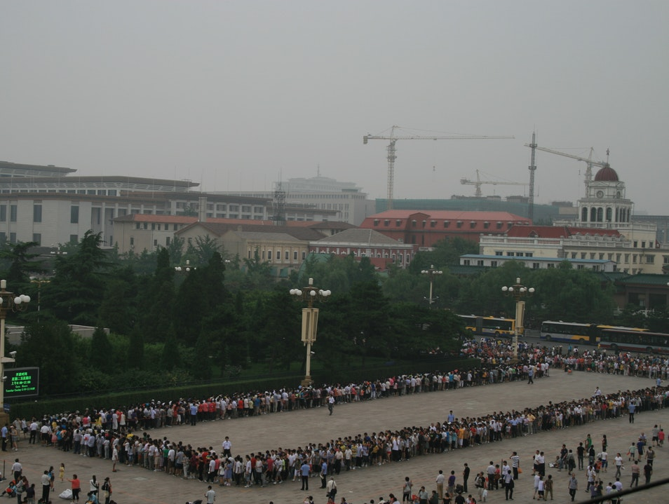 Now, that's a serious line Beijing  China