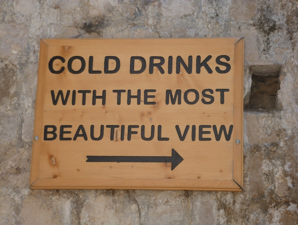 The sign says it all! Dubrovnik  Croatia