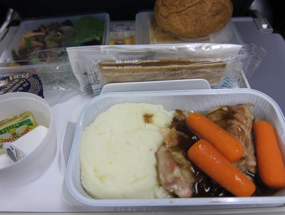 Dinner on SAS Airlines