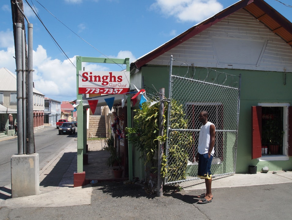 Stop in at Singh's for Some Hot-O-Hot Roti Christiansted  United States Virgin Islands
