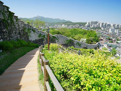 Old Fortress Walls Seoul  South Korea