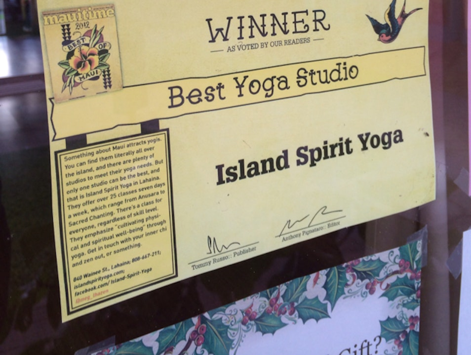 Best Yoga Studio on Maui  Lahaina Hawaii United States