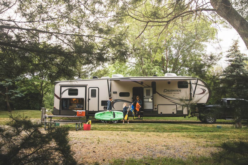 Fifth wheel trailers are full of amenities, but require the right tow vehicle and equipment.