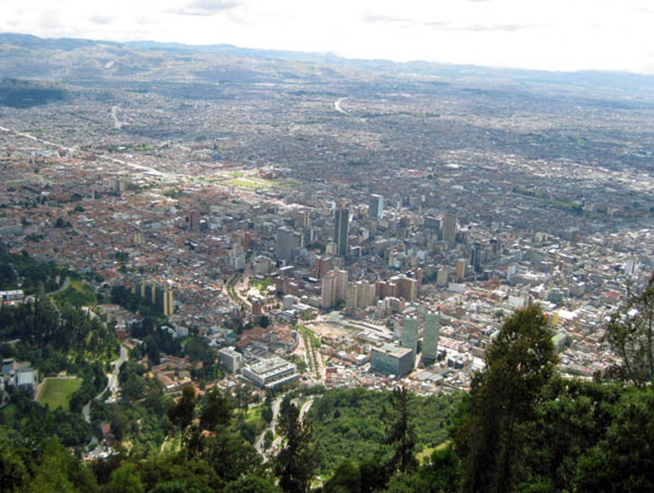 Ascension to Monserrate Bogota  Colombia