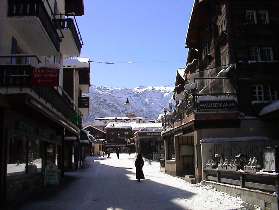 A ski town with no cars
