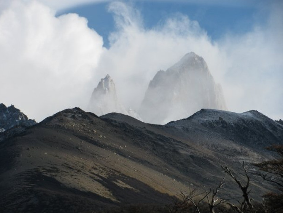 Peaks in the clouds El Chaltén  Argentina