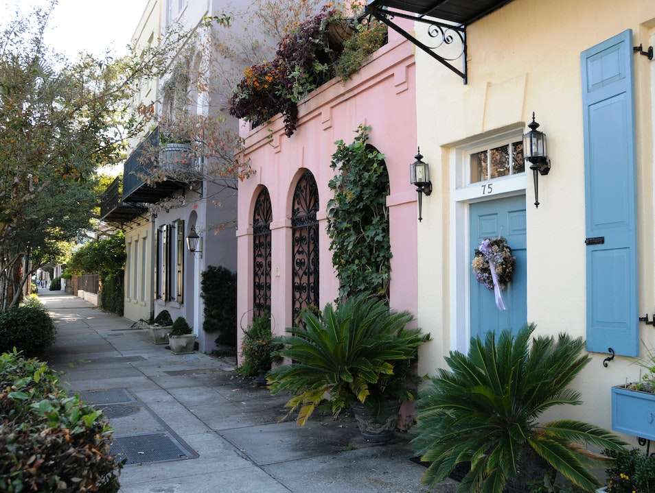 Rainbow Row Charleston South Carolina United States