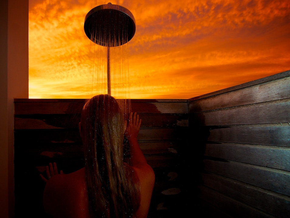 Sunset Shower at Ani Villas Anguilla