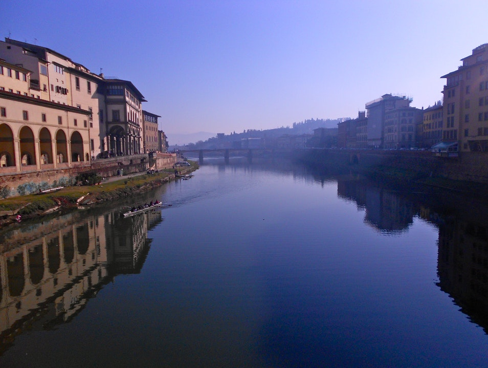 View from Ponte Vecchio Florence  Italy