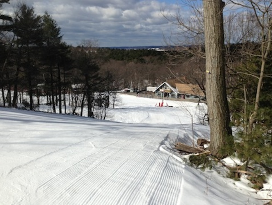 Skiing Just Outside Boston Canton Massachusetts United States