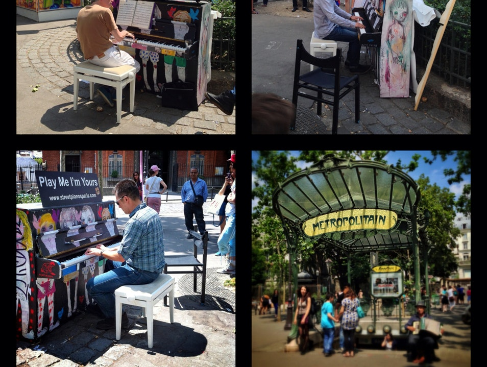 """""""Play me I'm Yours""""...Street Piano in Place des Abbesses"""