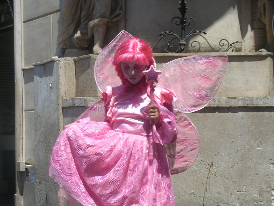 Fairy at Trevi Fountain Rome  Italy