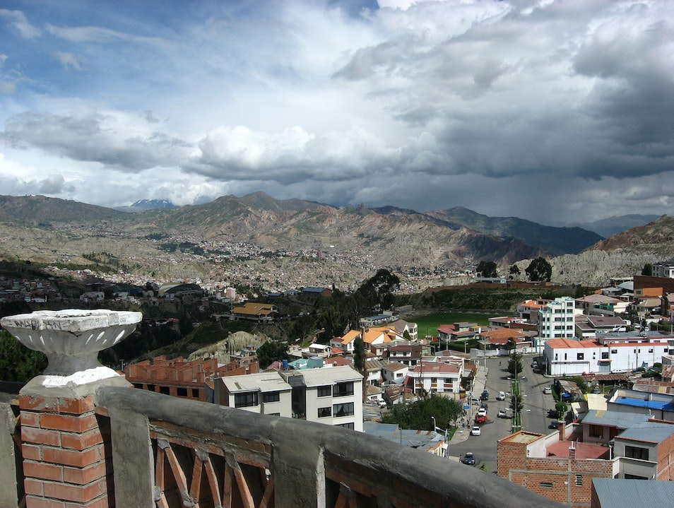 View from Monticulo La Paz  Bolivia