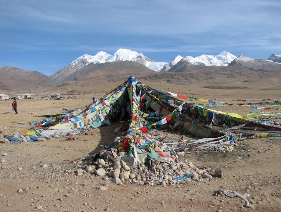 Prayer Flags in Tibet Ngari  China