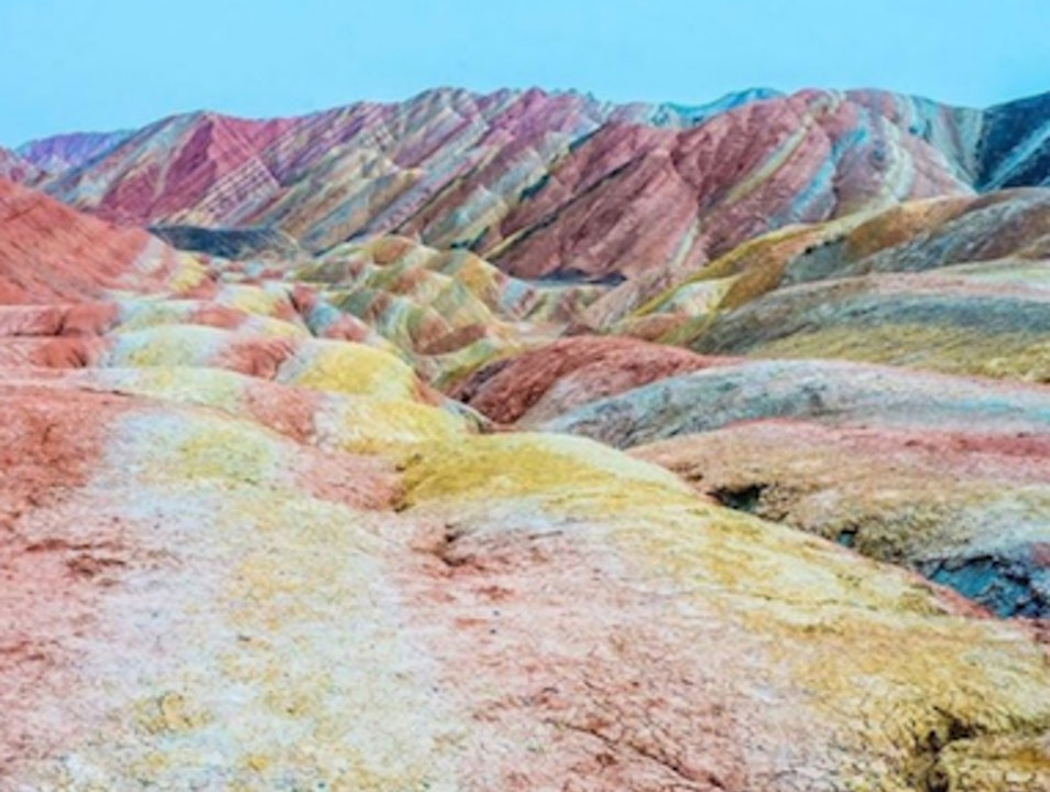 The Rainbow Mountains Zhangye  China