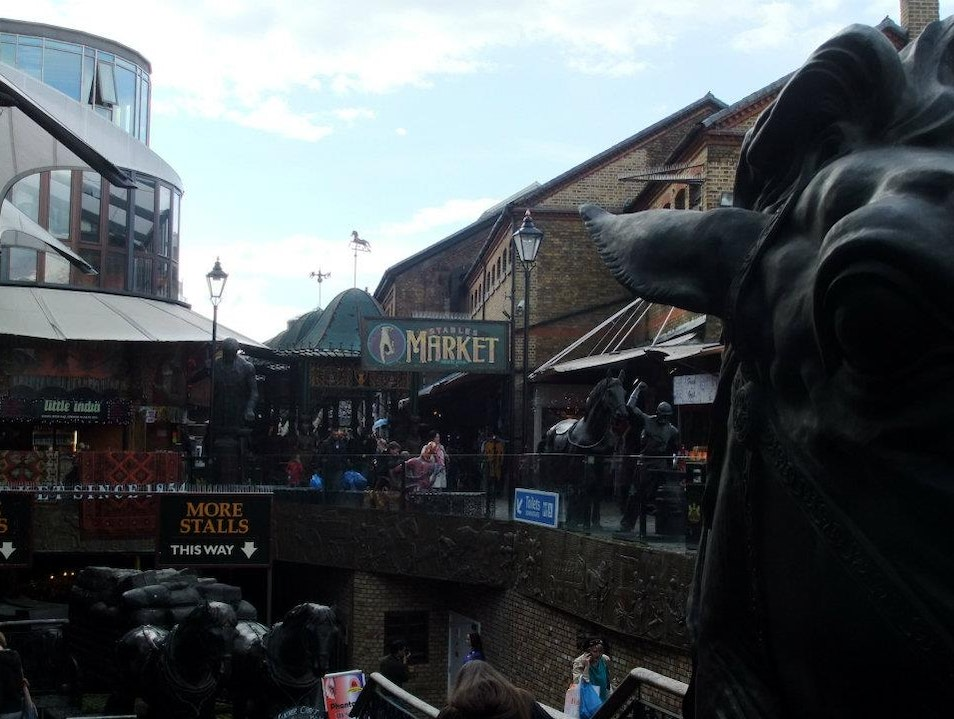 Treasure hunting in Camden Market London  United Kingdom