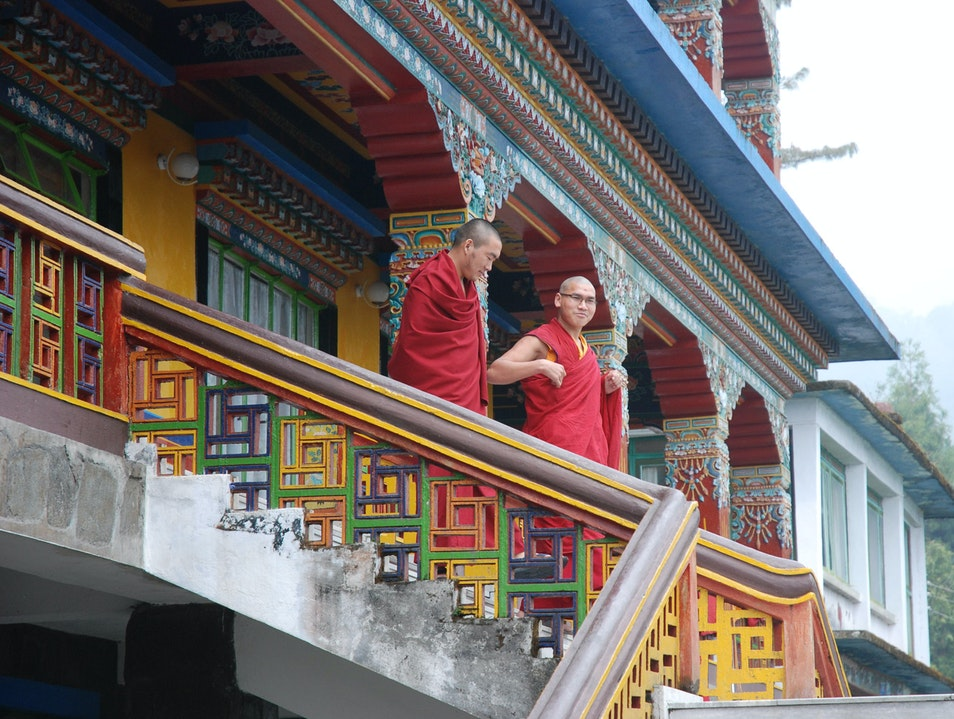 Monks at the Rumtek Monastery