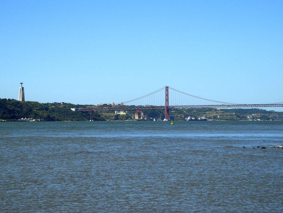 Another Great View of the Tagus River Lisbon  Portugal