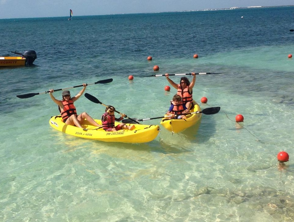 Kayaking with the kids Cancun  Mexico