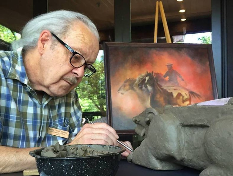 Lucius Upshaw Sculpting in Residence