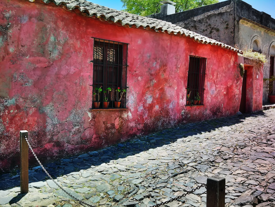 Colonia's old historic quarter Colonia Del Sacramento  Uruguay