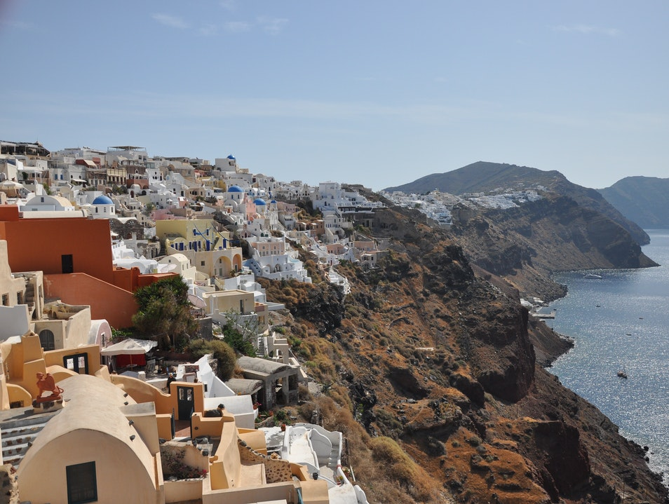 City on a Cliffside Oia  Greece