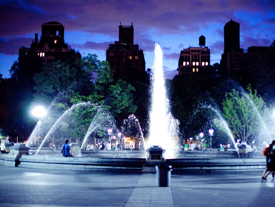 Listen to Live Music in Washington Square Park New York New York United States