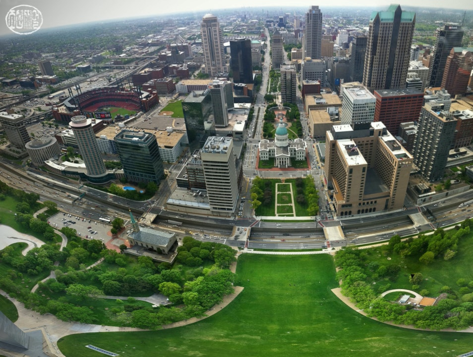 Atop the Gateway Arch in St. Louis St. Louis Missouri United States